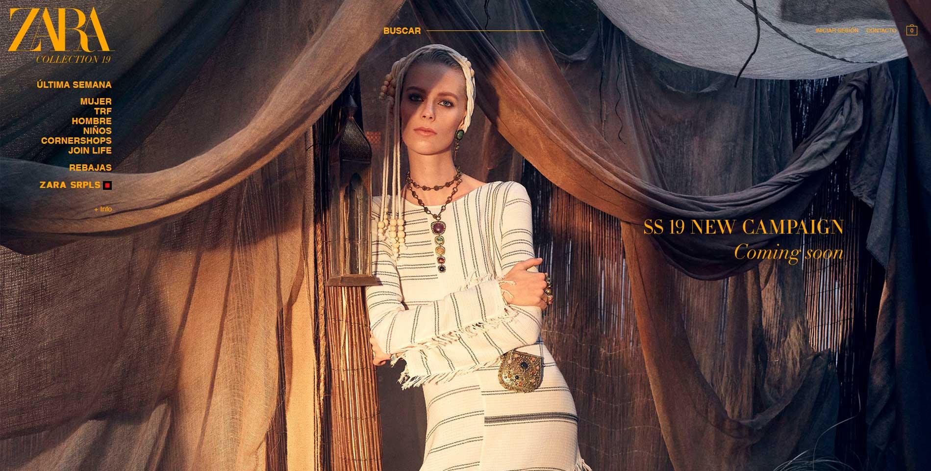 bab500dba Visitar la nueva web de Zara es como ojear una revista de moda.