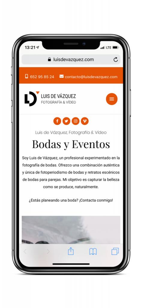 Nueva web Luis de Vázquez Ejemplo 1