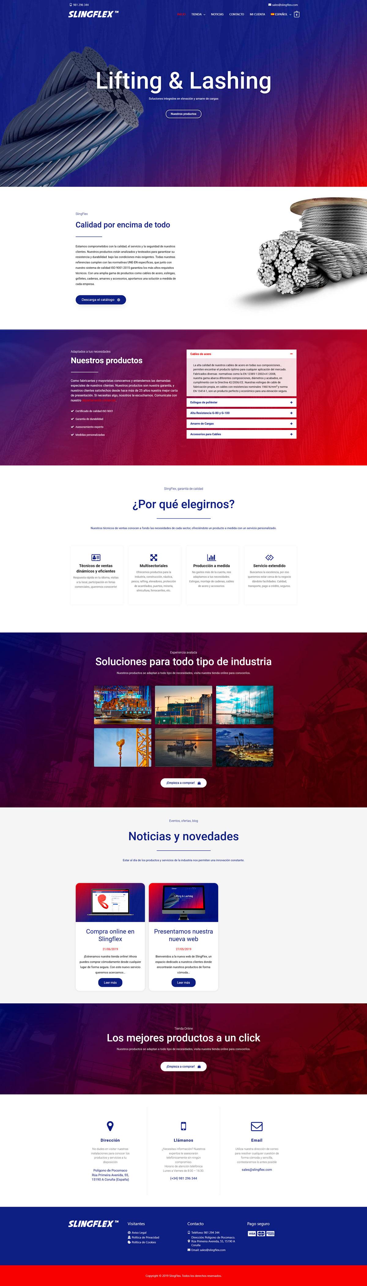 Slingflex Mockup Web