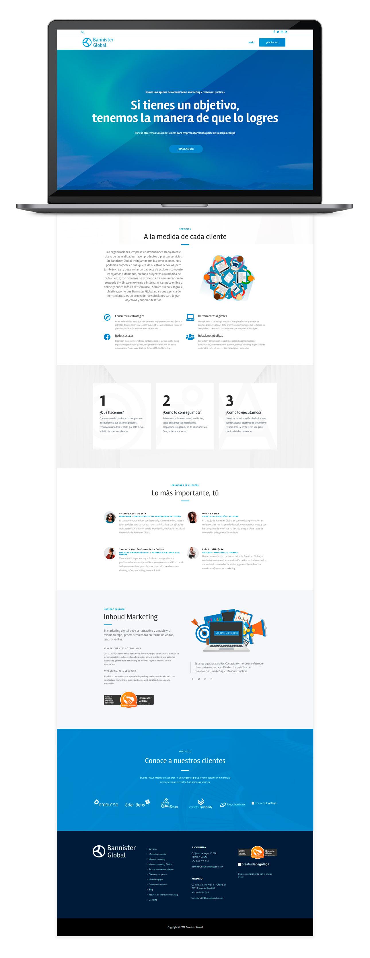 Mockup Web Bannister Global 2019