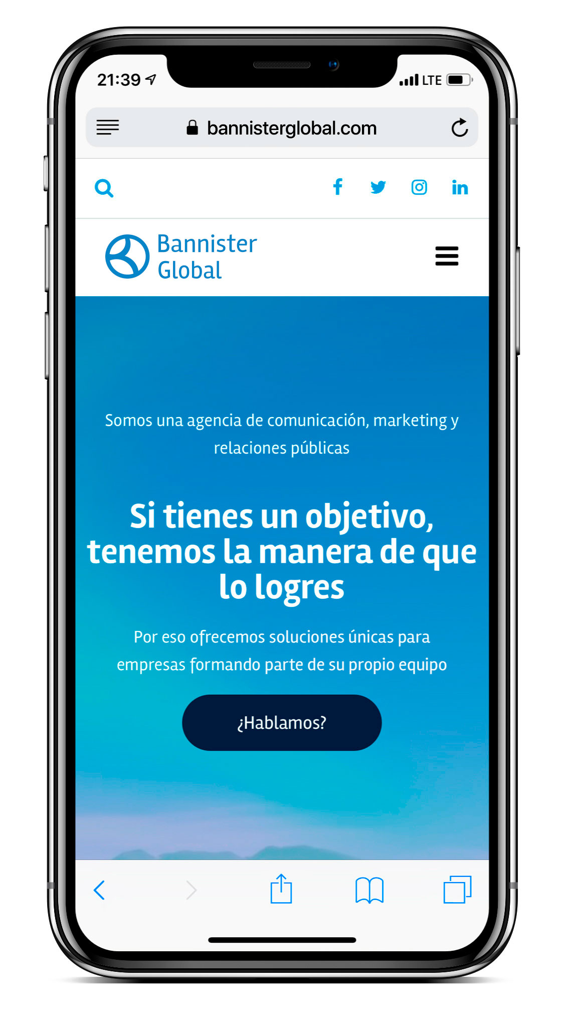 Mockup iPhone X Bannister Global